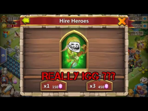 Castle Clash | Rolling Gems For New Hero Heartbreaker And Duplicates!