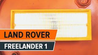 Hogyan cseréljünk Légszűrő LAND ROVER FREELANDER (LN) - online ingyenes videó