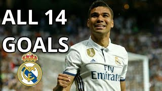 Casemiro ● All Goals For Real Madrid | 2015-2018