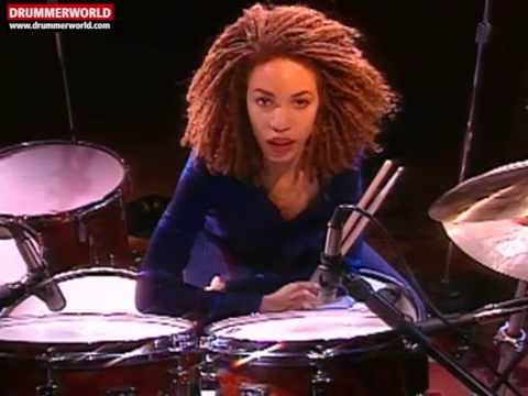 Cindy Blackman Santana Drum Clinic: Triplets Against Playing Time
