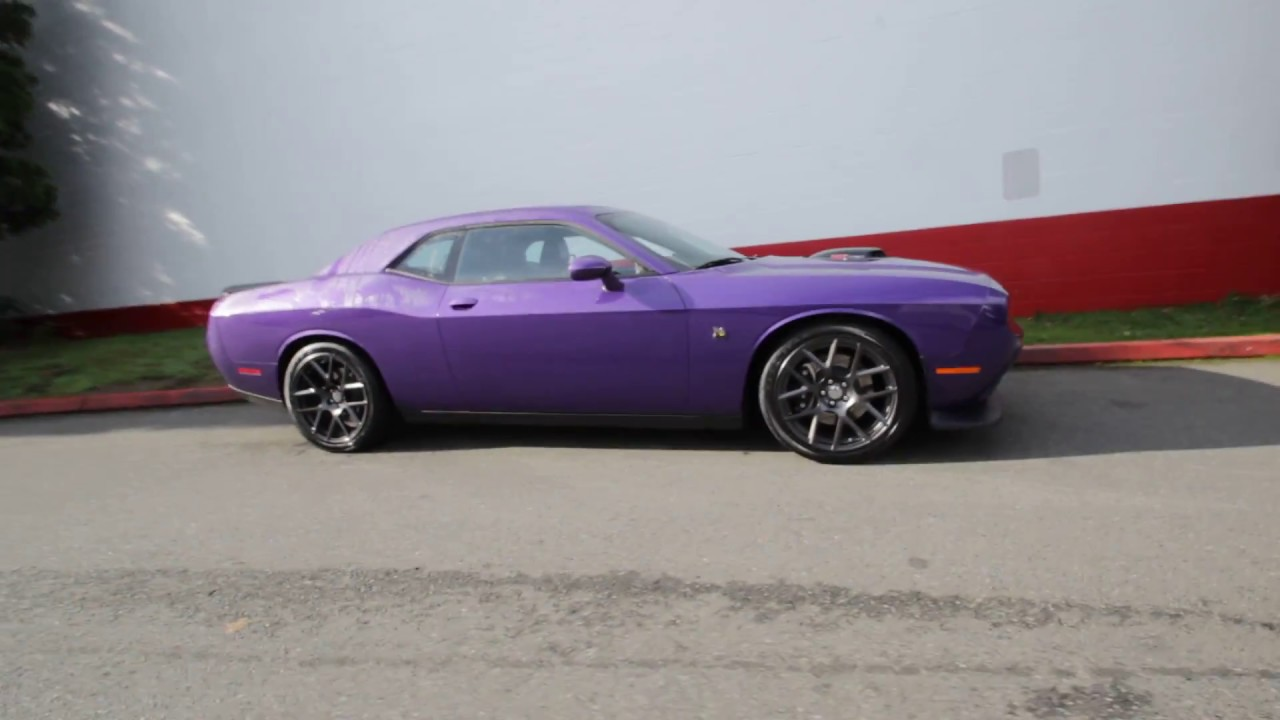 2016 dodge challenger r t scat pack shaker plum crazy pearl coat gh201748 redmond. Black Bedroom Furniture Sets. Home Design Ideas
