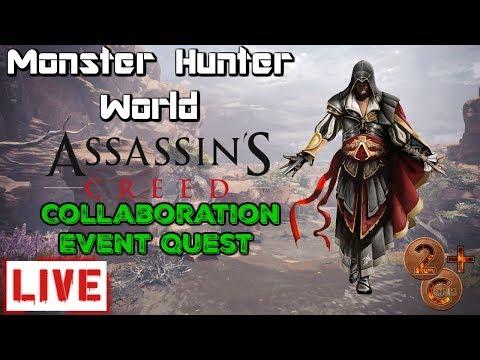 Monster Hunter World - New Assassins Creed Event Quest thumbnail