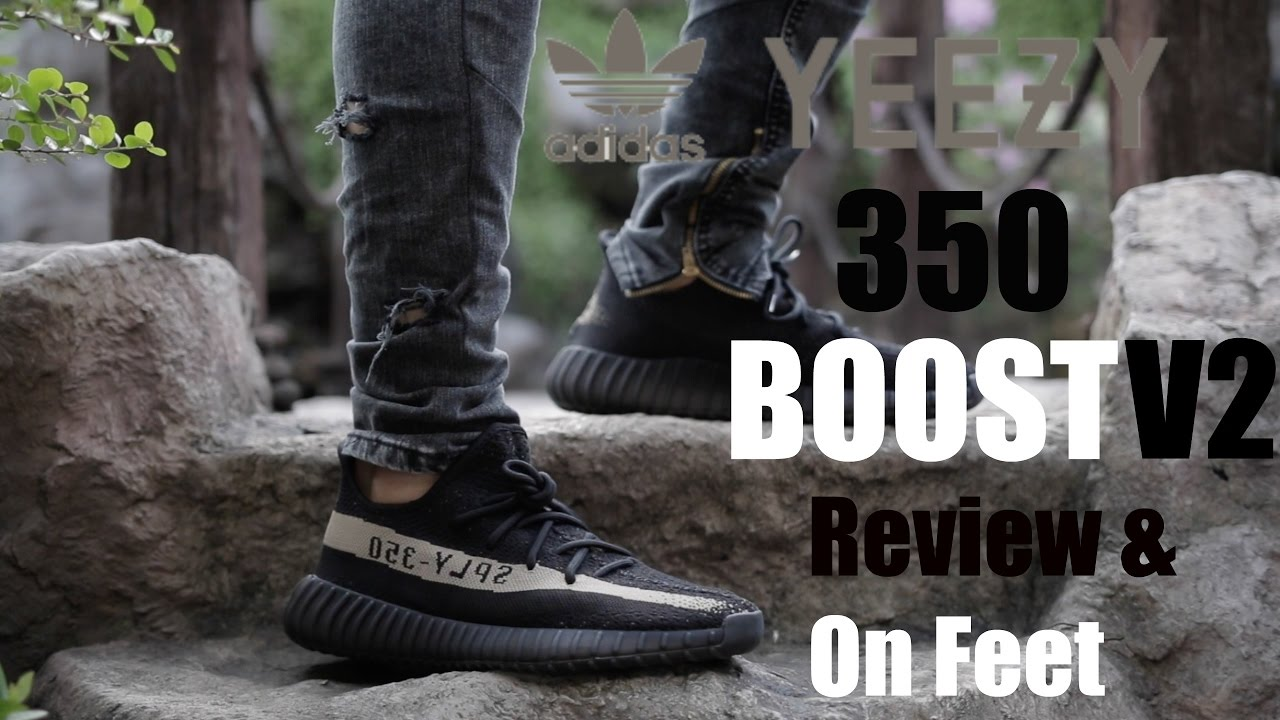 03f5d9887 adidas Yeezy 350 Boost v2 Black  Green Review   On Feet - YouTube