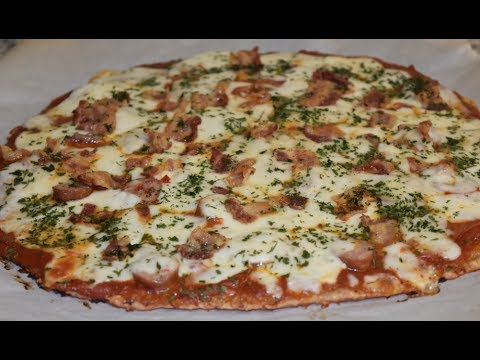 Keto Meat Lovers Chicken Crust Pizza Low Carb