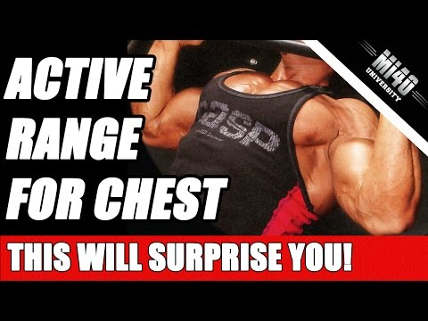 Active Range of Motion for Chest, Ben Pakulski Chest Training Tip