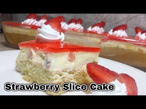 Strawberry Slice Cake Recipe_Strawberry pastry_Strawberry Custard Slice Dessert