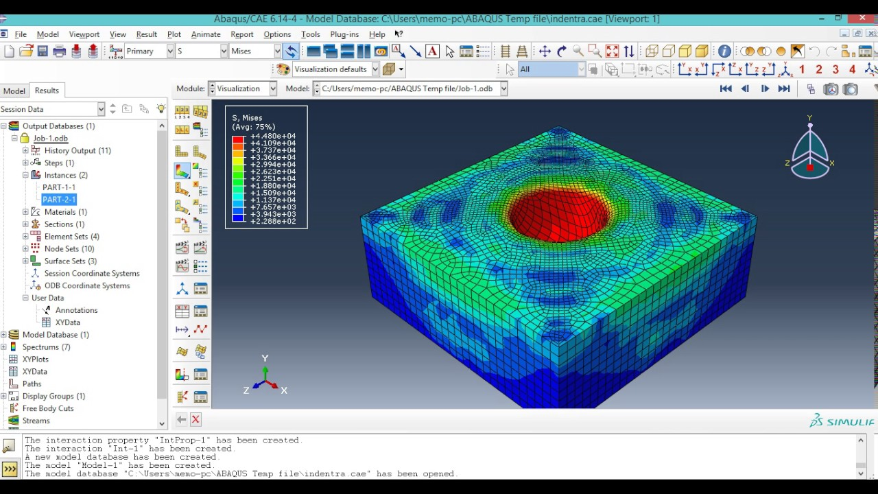 abaqus thesis Search for jobs related to fea analysis thesis or i am looking for an experienced engineer to do an fea simulation of composite material using abaqus the whole.