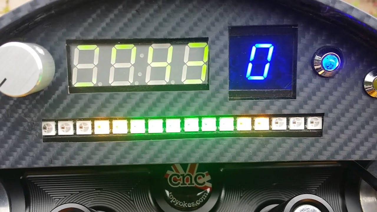 Arduino + Neopixel Automotive Tachometer/Shift Light