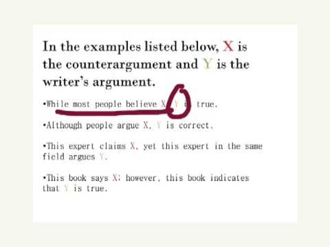 Writing Counter Arguments - Youtube