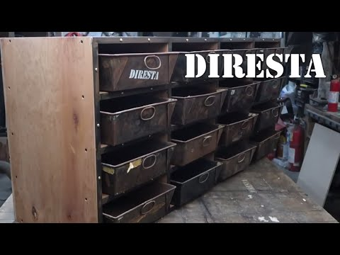 DiResta Wood Cabinet with Bin Drawers