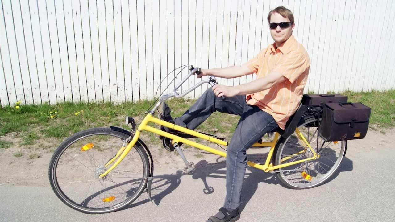 Semi Recumbent Semirecumbent Bicycle Youtube