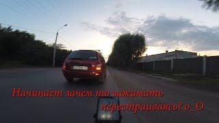 Авто-аномалия, сигналит, подрезает)) г.Омск Город глазами велосипедиста #281