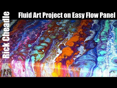 158  Easy Flow Panel Stripes Paint Pouring Project