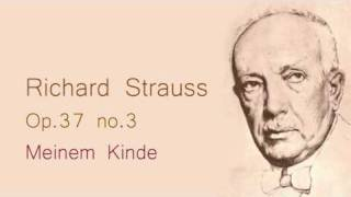 Strauss Meinem Kinde op 37 no 3