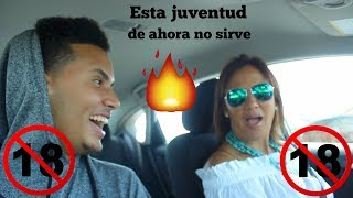 Mi mama reacciona a las canciones de trap (My mom reacting to latin trap) (Badbunny, ozuna etc...)