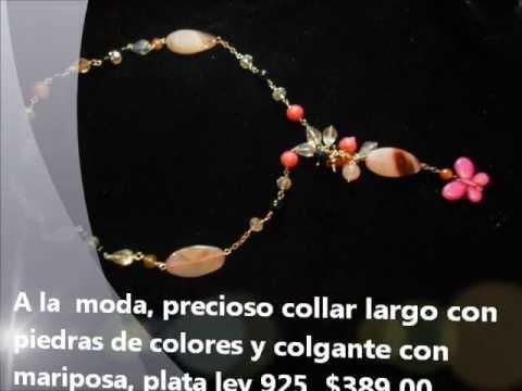 COLLARES DE MODA, LOS MEJORES REGALOS , JOYAS DE PLATA, REGALOS AMOR, AMISTAD .wmv