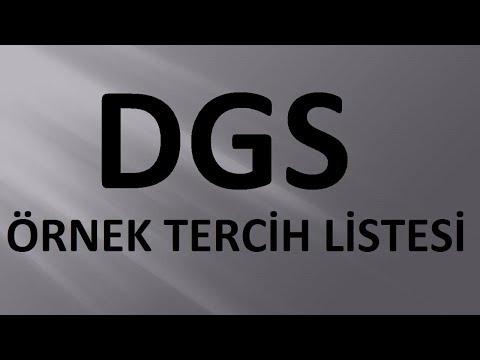 DGS TERCİHLERİ | DGS ÖRNEK TERCİH LİSTESİ