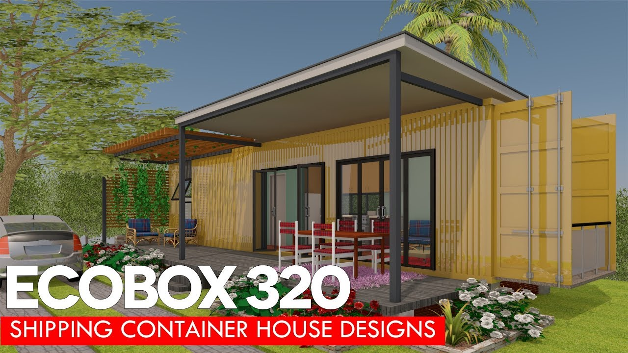 Shipping Container House Designs With Floor Plans For Modern Homes | ECOBOX  320