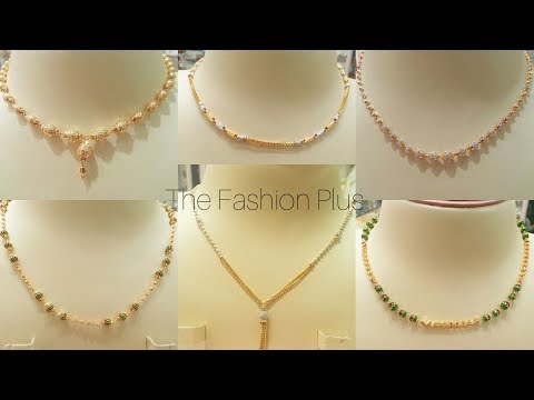 Light weight gold Chain Necklace design   Gold Chain Mala Designs
