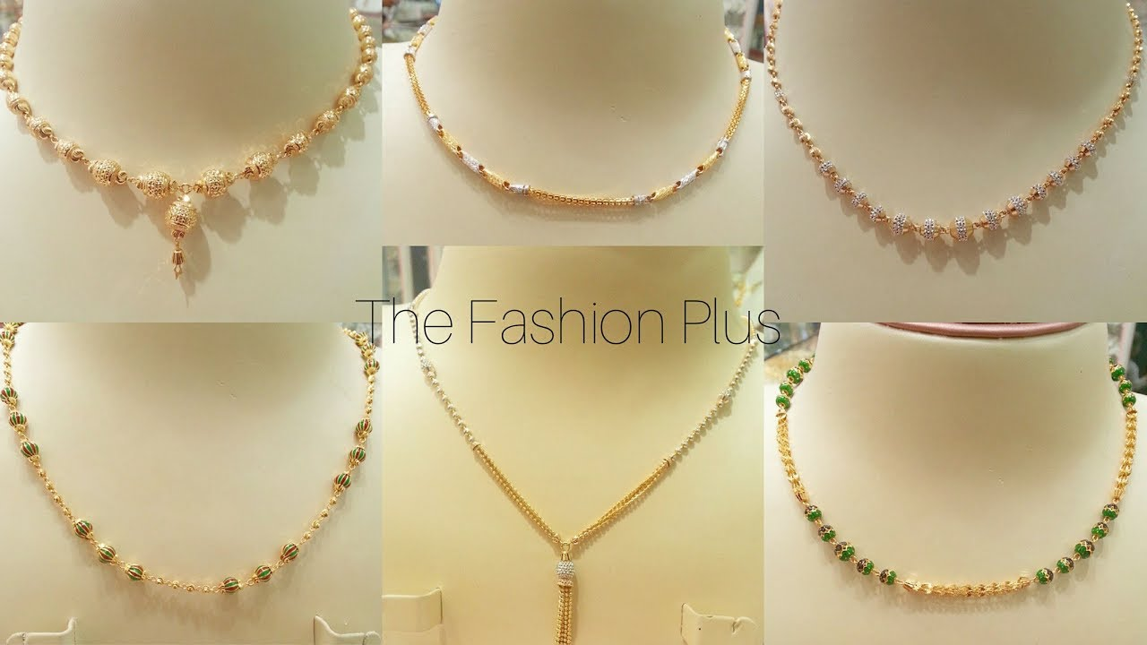 Mala Design Light Weight Gold Chain Necklace Design Gold Chain Mala Designs