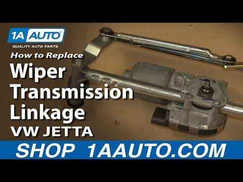 How To Install Fix Windshield Wiper Transmission Linkage Volkswagen VW Jetta Golf GTI