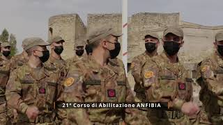 Marina Militare- Cerimonia di consegna del basco -frequentatori del 21 Corso di Abilitazione Anfibia