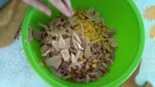 ГОТОВИМ Салат с копченной курицей и грибами. ЧАСТЬ 2
