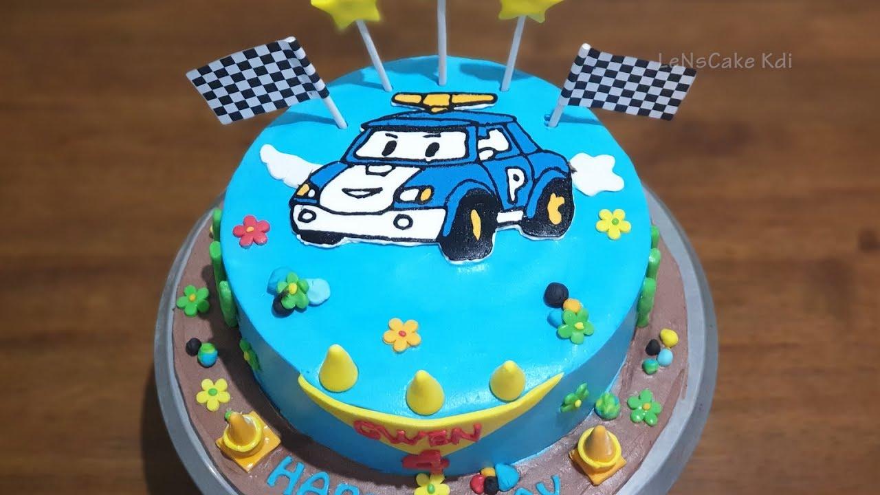 Kue Ulang Tahun Anak Laki Laki Robocar Poli Kue Ultah Sederhana Karakter Youtube