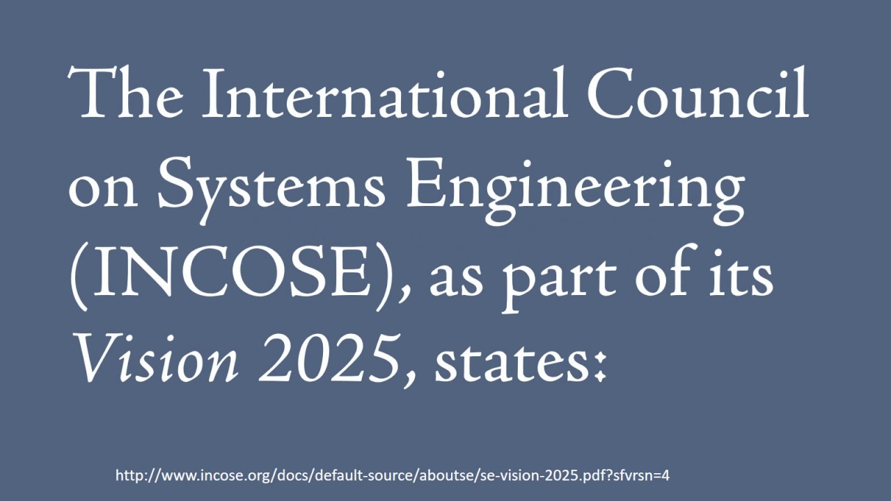 Incose Systems Engineering Vision 2025