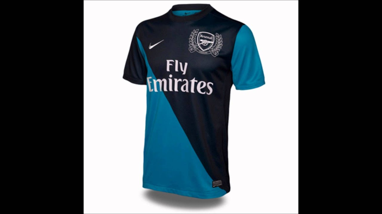 112d3d51657 Arsenal Kits 2011 2012- Home   Away + Goalkeepers Shirts - YouTube