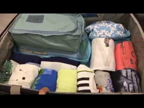 28ba98459c3e9 ترتيب شنطة سفر اطفال - YouTube