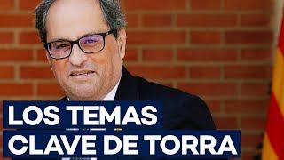 Los cinco puntos de QUIM TORRA a Pedro Sánchez