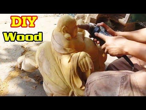 Amazing Created Maitreya Buddha Statue | DIY Techniques Woodworking