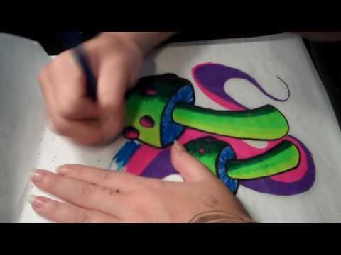 Colorful Shroom Drawings