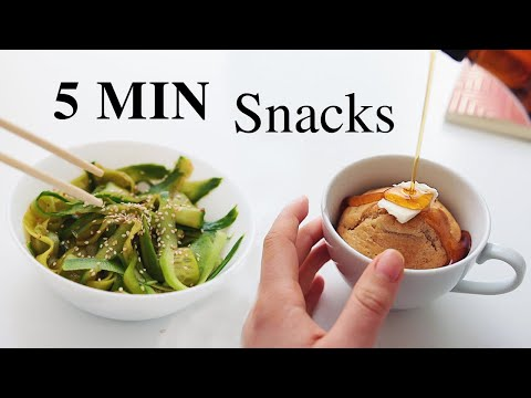 5 Minute Snack Ideas for Students! (vegan)