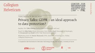 Privacy talks: gdpr – an ideal approach to data protection? referent: prof. niko härting (berlin school of economics and law) panel: dr. eldar haber (haifa u...
