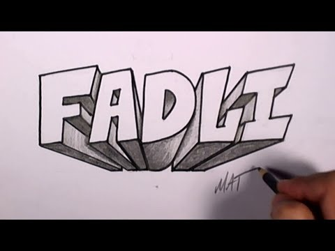 Graffiti Writing Fadli Name Design #49 in 50 Names Promotion   MAT from YouTube · Duration:  15 minutes 12 seconds