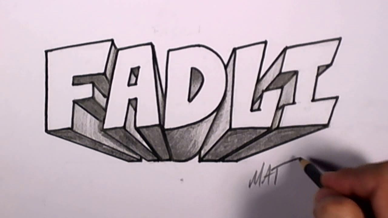 Graffiti Writing Fadli Name Design  Names Promotion Mat Youtube