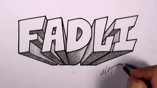 Download Video Graffiti Writing Fadli Name Design #49 in 50 Names Promotion | MAT MP3 3GP MP4