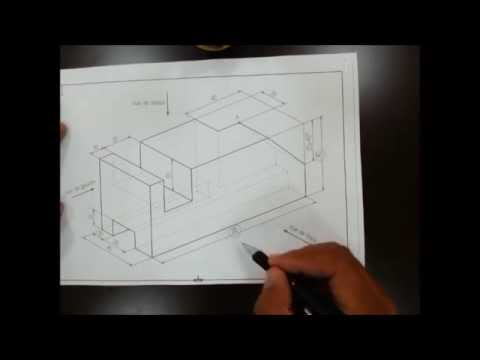 pi ce m canique simple dessin e la main dessin industriel youtube. Black Bedroom Furniture Sets. Home Design Ideas