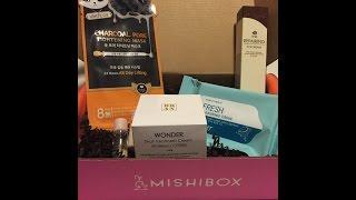فتح صندوق ميشي بوكس الشهري لمنتجات العناية الكورية على السناب شات Mishibox Unboxing