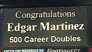 Edgar Martinez collects his 500th double