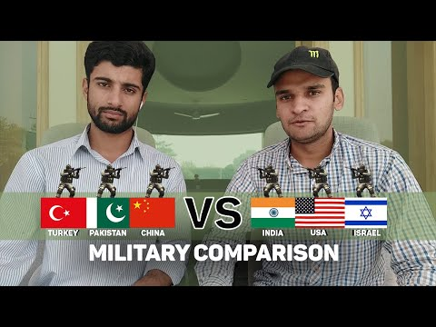 India USA Israel vs Pakistan China Turkey Military Comparison