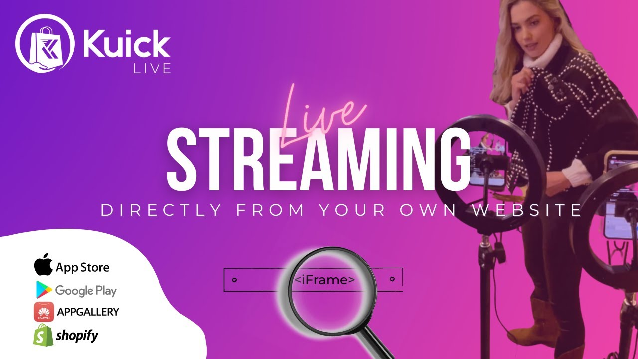 Download Connect your Kuick Live Stream to your website!
