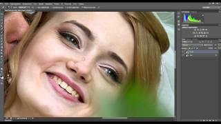 Урок Adobe Photoshop/Ретушь/Подготовка к печати(В этом видео,я покажу Вам как можно легко и просто подкорректировать(отретушировать) кожу,сделать фото..., 2014-03-26T13:03:47.000Z)