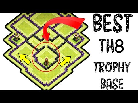 Clash of Clans! Best Townhall 8 (Th8) Trophy Pushing Base 2017 .
