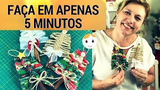 DIY ENFEITE NATALINO EM 5 MINUTOS