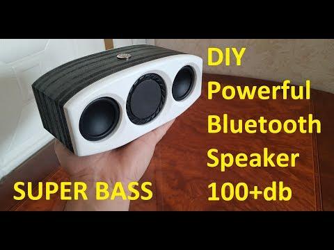 DIY Powerful Portable Bluetooth Speaker Mega Bass 100+db