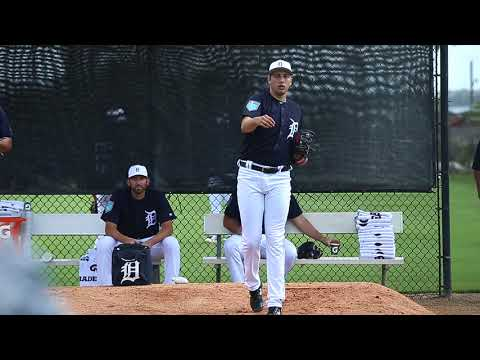 Take a bullpen session with Detroit Tigers rookie Alex Faedo