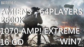 Battlefield 1| GTX 1070| i7-2600K| 64players| Benchmark